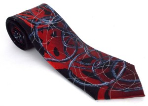 j garcia black red tie