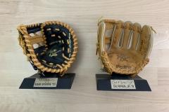 Mark McGwire & Cal Ripken Jr Glove Displays