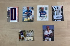 Texas Rangers Autographed Card Lot