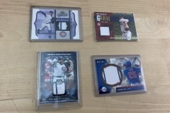 Lot of 4 Chicago Cubs Game Used Jersey Cards